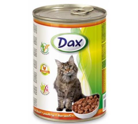 DAX konzerva pre mačky hydina 415 g