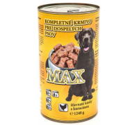 MAX konzerva pre psov hydina 1240 g