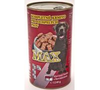 MAX konzerva pre psov hovädzie 1240 g